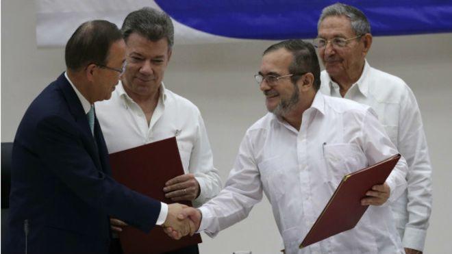 Kolombiya'da FARC ile tarihi ateşkes anlaşması