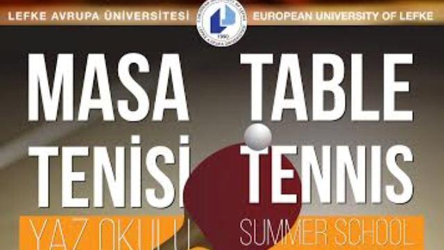 LAÜ Masa Tenisi Yaz Okulu Kayıtları Başlıyor