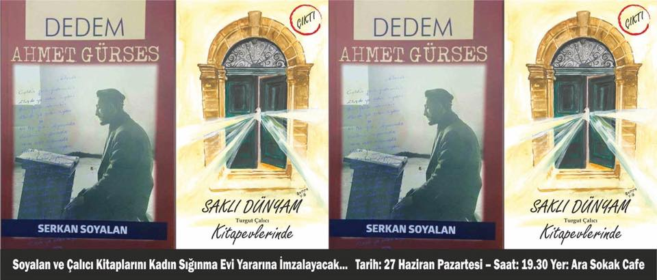 Soyalan ve Çalıcı kitaplarını Kadın Sığınma Evi için imzalıyor
