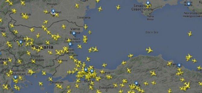 Saldırı sonrası hava trafiği radara böyle yansıdı