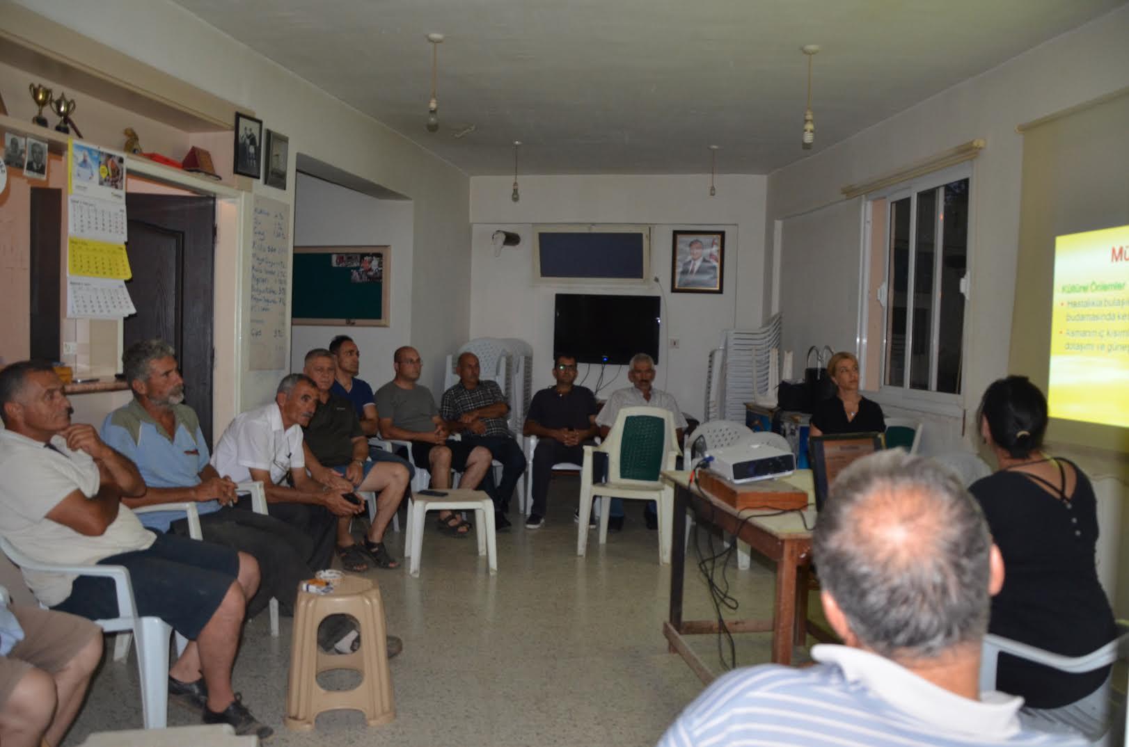 Hisarköy'de üreticilere yönelik eğitim çalışması gerçekleştirildi
