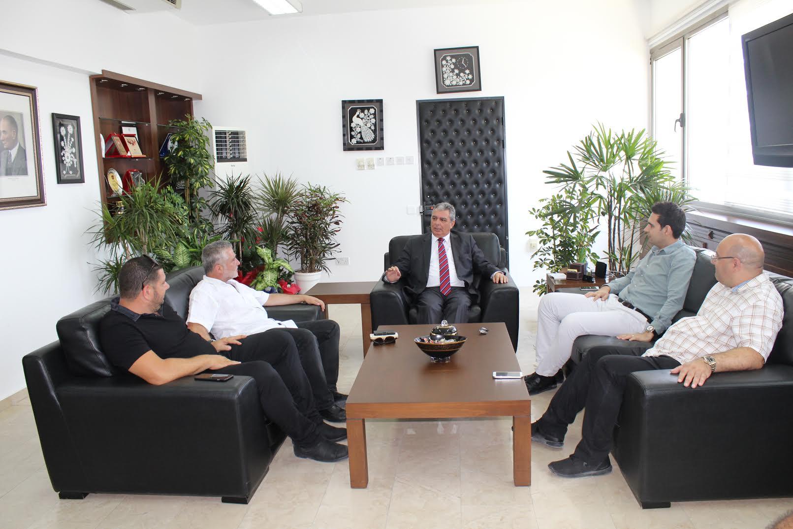 Doğan Türk Birliği Evren'i ziyaret etti