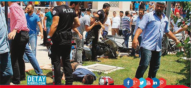 Camide 'üzerimde bomba var' diye bağırdı (Video Haber)