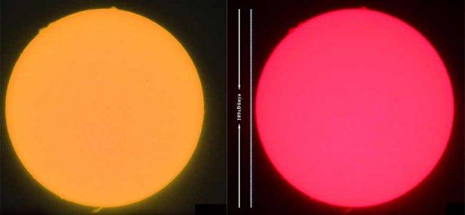Güneş patlamasını görüntülendi!