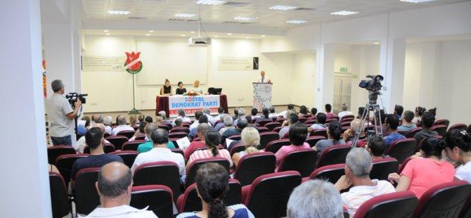 SDP Kurultayı yapıldı, Tunalı başkan seçildi
