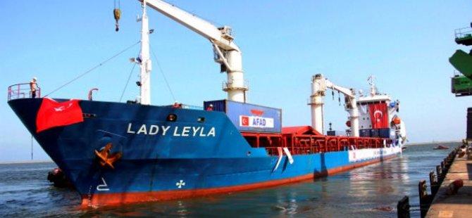 Gazze'ye yardım taşıyan 'Lady Leyla' Aşdod'a ulaştı