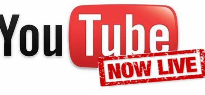 YouTube Canlı Yayın telefonlara iniyor!