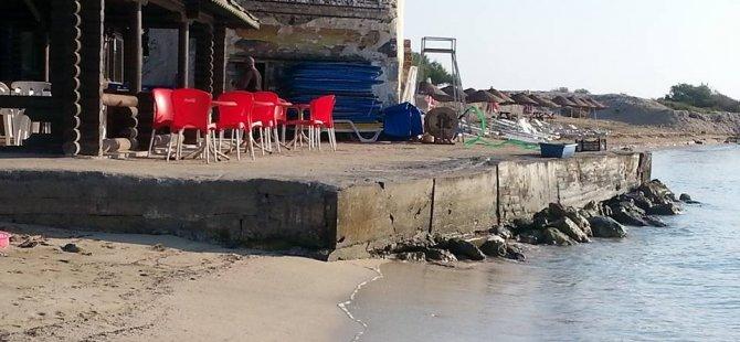 Yeniboğaziçi'nde deniz işgal edildi, beton döküldü!