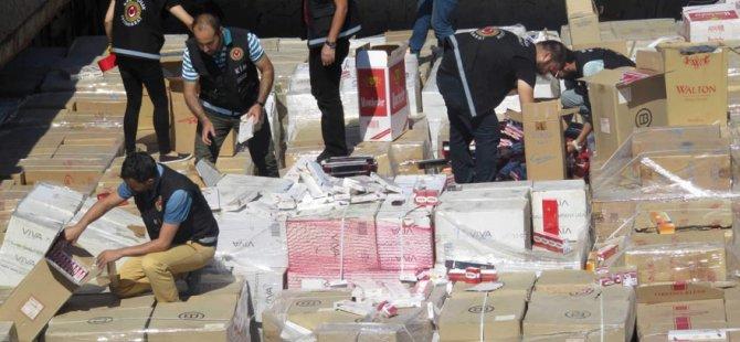 Kuzey Kıbrıs'tan Ukrayna'ya 28 milyonluk sigara kaçakçılığı