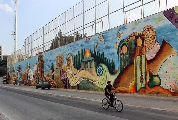 Filistin tarihini duvara resmediyorlar