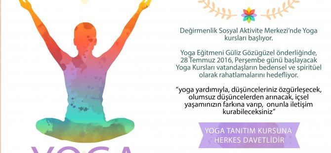 Değirmenlik Belediyesi Özle Türkel Sosyal Aktivite Merkezi'nde YOGA kursları başlıyor...