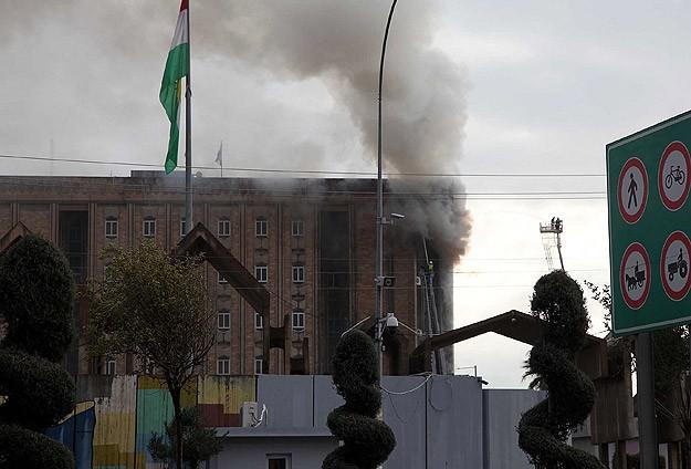 IKBY Parlamento binasındaki yangın söndürüldü
