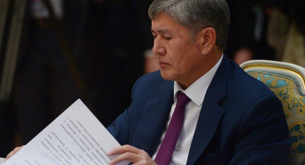 Atambayev'den Çavuşoğlu'na yanıt
