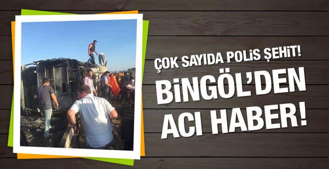 Bingöl'de bombalı saldırı! Çok sayıda polis şehit!