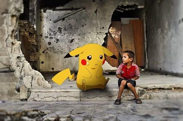 Pokemon GO, Suriye'de savaşa karşı
