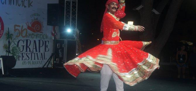 Uluslararası Altın Salkım Halk Dansları Festivali gerçekleştirildi