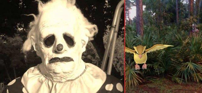 Korkunç palyaço Pokemon Go oyuncularının peşine düştü!