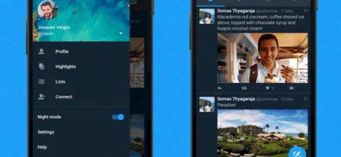 Twitter'ın gece modu iOS'a geliyor