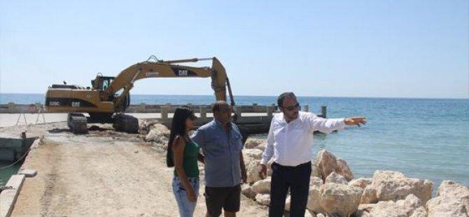 İskele Boğaz'daki çalışmaların bir ay içinde bitirilmesi hedefleniyor