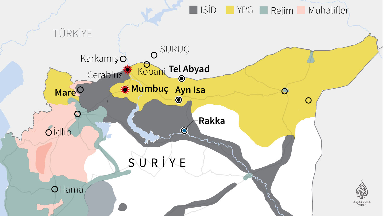 Türkiye Mumbuç'ta PYD'yi vurdu