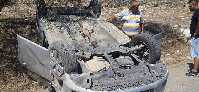 Lefkoşa'da trafik kazası, Mehmetçikli  Osman Zorlu  hastaneye kaldırılıdı