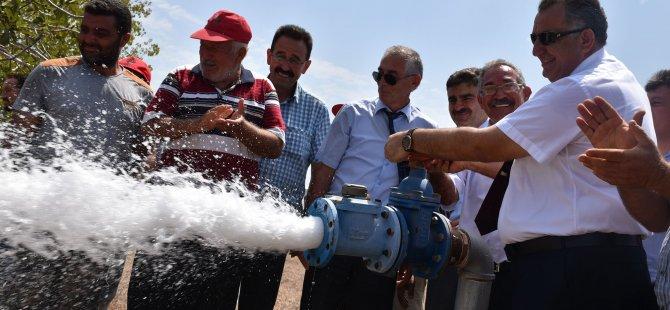 Çavuşoğlu, Yeşilköy'de Yapımı Tamamlanan Sulama Amaçlı Su Deposunun Açılışına Katıldı