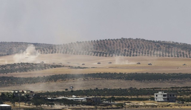 Son dakika: ÖSO Cerablus'a ulaştı ve 46 IŞİD'li öldürüldü!