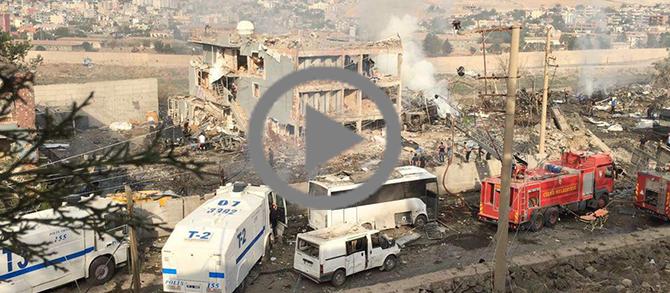 Cizre'deki saldırı'dan ilk görüntüler (Video)