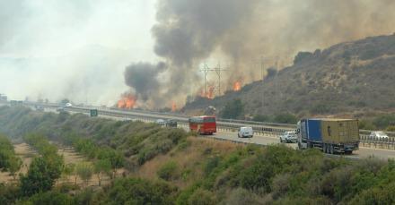 Larnaka'daki Yangın Söndürüldü