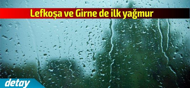 Lefkoşa ve Girne'ye  Sonbaharın ilk yağmuru düştü