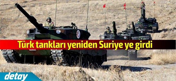 Türk tankları Suriye'nin Rai kasabasına girdi