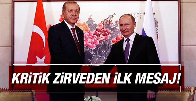 Erdoğan ve Putin görüşmesi sona erdi