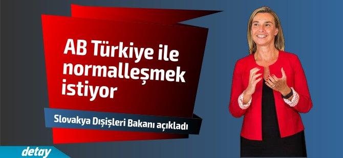 AB Türkiye ile normalleşmek istiyor