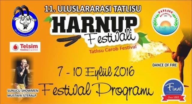 """""""11. Tatlısu Geleneksel Uluslararası Harnup Festivali"""" yarın akşam başlıyor"""
