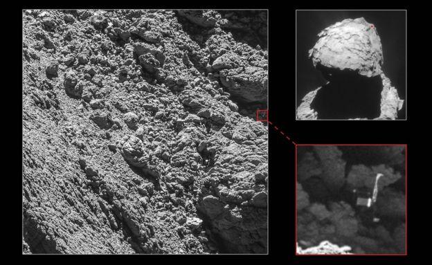 Philae: Kayıp kuyruklu yıldız kaşifi bulundu