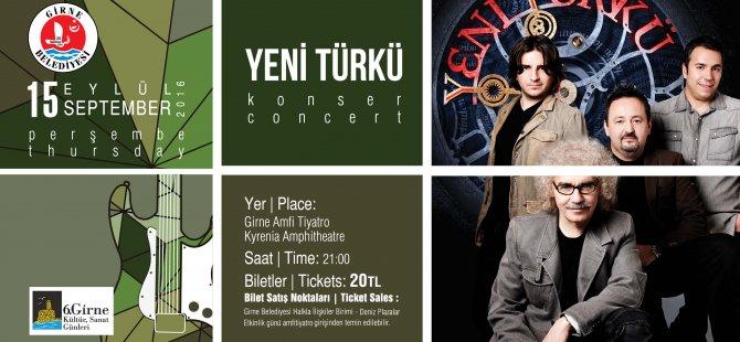 Yeni Türkü yarın akşam Girne Amfi Tiyatro'da!