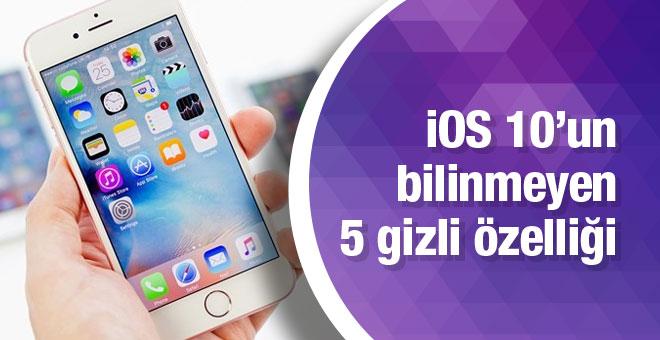 iOS10'un 5 az bilinen özelliği