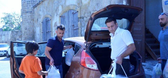 TBDD, yardıma muhtaç ailelere yardım paketi dağıttı