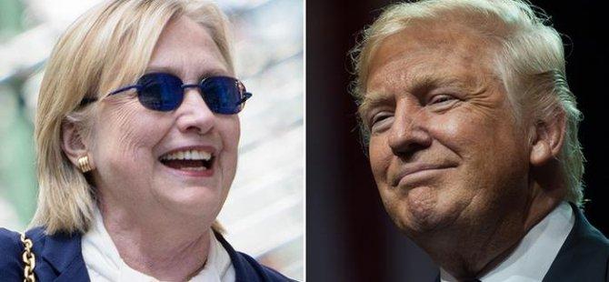 Clinton 'sağlıklı' Trump 'yüz karası'