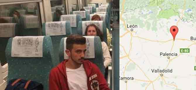 Mesaisi biten makinist treni durdurup indi