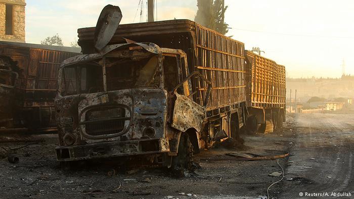 BM'nin Halep yardım konvoyu vuruldu; 12 ölü