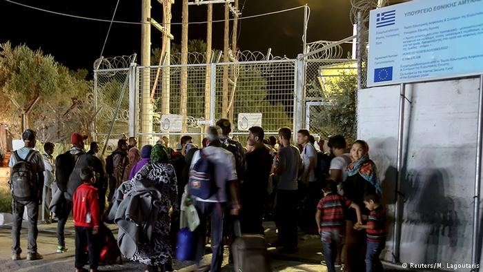 Midilli'deki mülteci kampında yangın çıktı