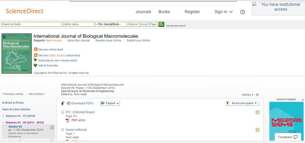 """YDÜ, """"Biyomedikal Mühendisliği Özel Sayısı"""", Bilimsel Atıf Dizini SCI Olan Dergide Yayınlandı."""