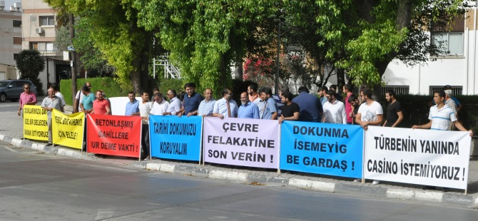 Otel İnşaatı protesto edildi