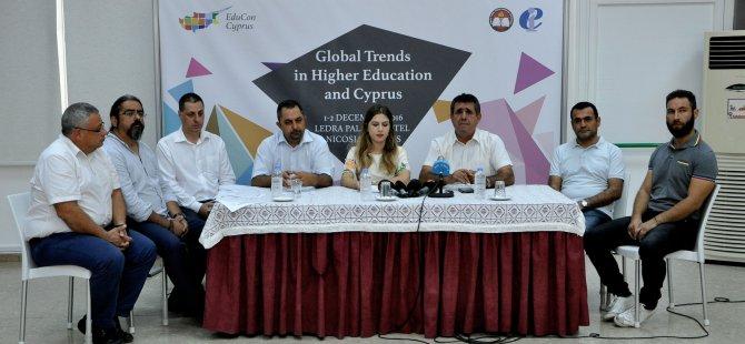 """KTÖS'ten """"Yüksek Öğrenimde Eğilimler ve Kıbrıs"""" konferansı"""