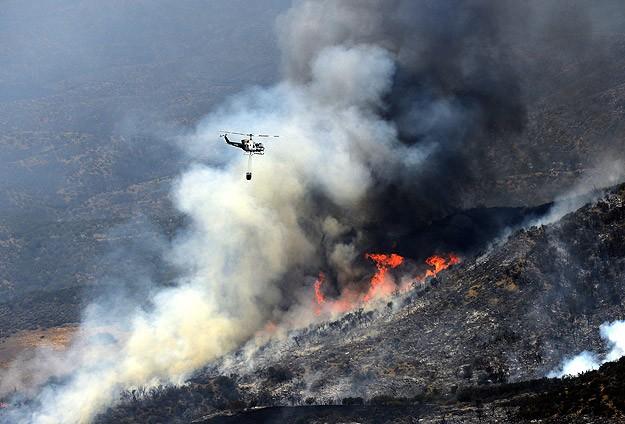 California'da korkutan orman yangını