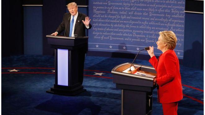 Clinton ve Trump arasında ateşli televizyon tartışması