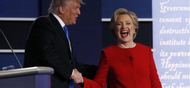 5 soruda Clinton ile Trump tartışması