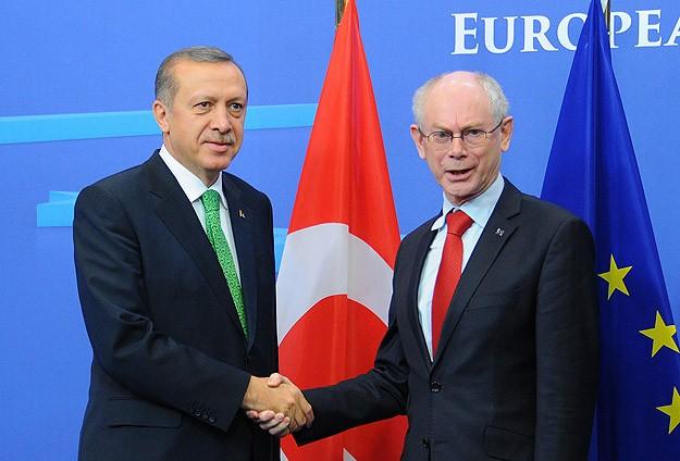Başbakan Erdoğan, Barroso ve Van Rompuy ile bir araya geldi
