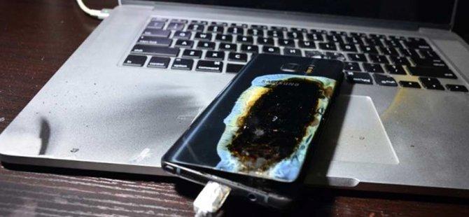 Bir Note 7 daha patladı!